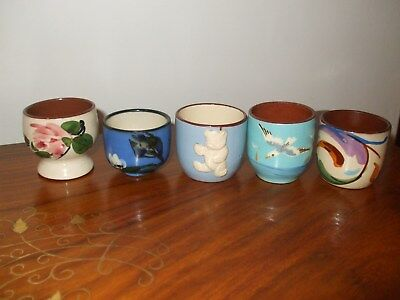 Torquay Pottery,  Egg Cups, Seagull & Others