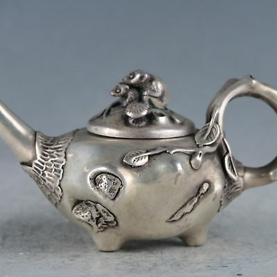 Chinese  Silvering Copper Squirrel Teapot Made By The Royal Qianlong BT0148