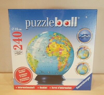 Ravensburger illustrated world map globe 3 d jigsaw puzzle ball 240 ravensburger puzzleball 3d globe jigsaw puzzle 240 pieces 15 cm no 115099 gumiabroncs Gallery