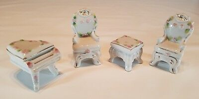 Porcelain Doll Furniture Made in Occupied Japan Set of 4 Pieces Vintage