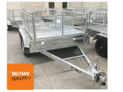 10x5 tandem entry Model trailer new wheels galvanised 600 cage fully weld 8x5