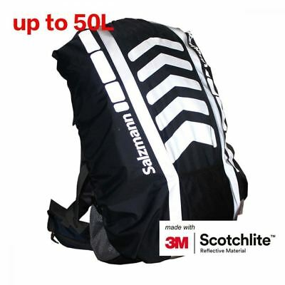 Salzmann 3M Scotchlite Reflective Backpack Cover, Rucksack Waterproof, Navy