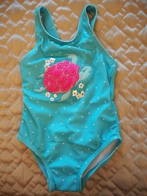 Gymboree Toddler Girl One Piece Turqoise Turtle Swimsuit Size 2T NWT!
