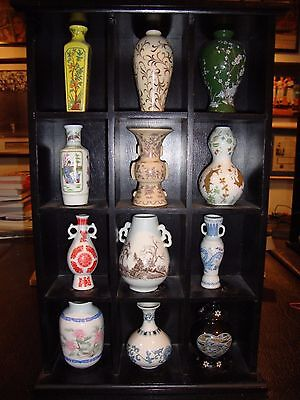 Franklin Mint Treasures of the Chinese Dynasties Miniature Vase Collection w/ Ca
