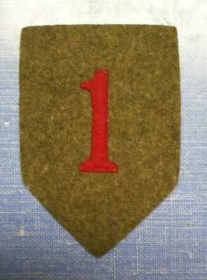 Pre-WW2 1st Division Patch on Wool