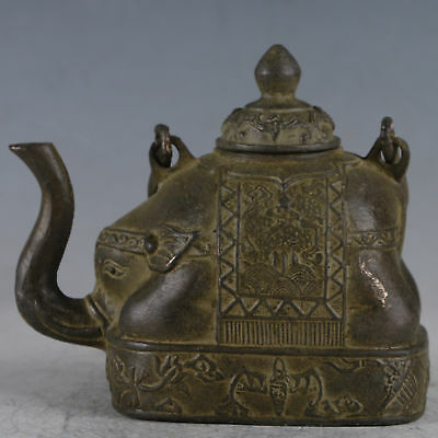 Chinese Rare Bronze Elephant Trunk Teapot Made By The Royal Daqing HST0043