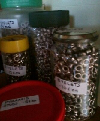 Silver Metal Eyelets 2 sizes available small & medium selling for 5 cents each
