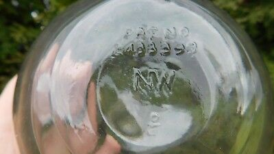 Vintage Genuine American Made Glass Float NW Marked Pat.
