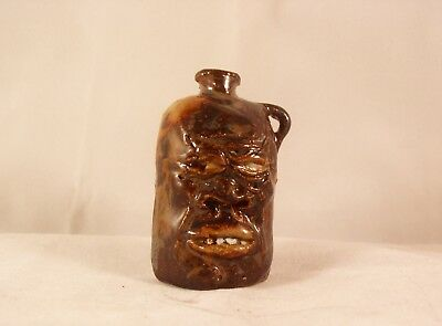 FACE JUG PIN WHIMSEY,  High Fired Stoneware by Berdej NEW