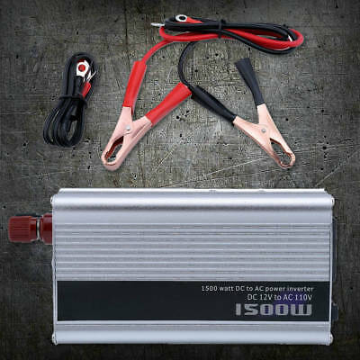 1500/3000W Car Power Inverter 12V DC to 110V AC Modified Sine Wave Converter BT