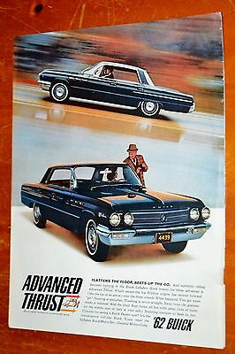 Black 1962 Buick Lesabre 4 Dr Ht Ad + Shirley Maclaine On Life Cover Backside