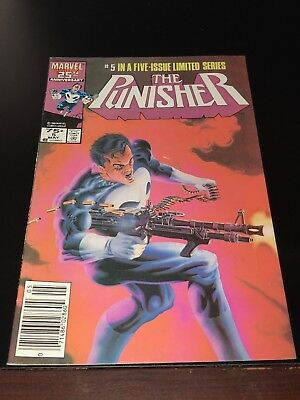 1985 THE PUNISHER #5 NEWSSTAND in a five issue limited series VF Very Fine