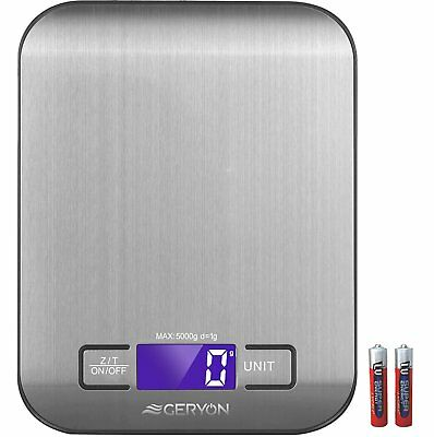 Digital Kitchen Scale Stainless Food Weighing Cooking Scales 5kg High Accuracy