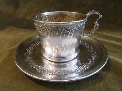 1900 french sterling silver tea or coffee cup rococo st 131g 4,6oz