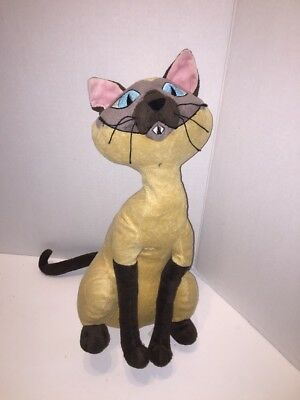 "Disney Store 16"" Lady and the Tramp Si Am Siamese Cat Plush (Read)"
