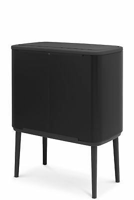 Brabantia 11 and 23 Litre Bo Touch Bin - Black