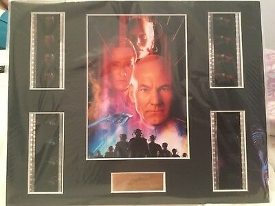 Star Trek, first contact, limited multiple film  cell display, numbered,