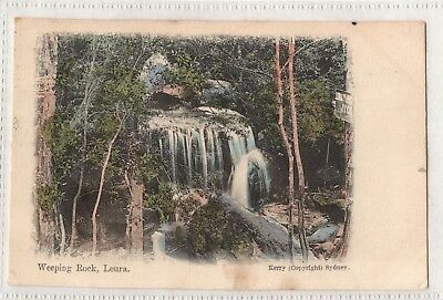 Vintage Postcard Weeping Rock, Leura Nsw 1906