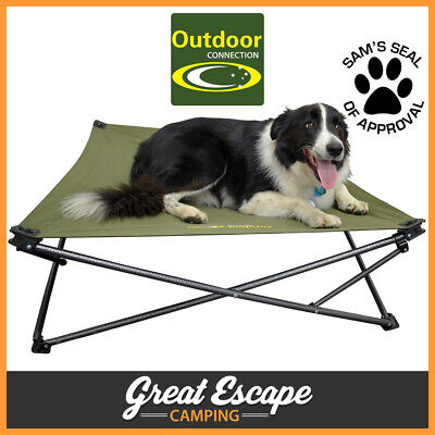 Outdoor Connection Large Canvas Camping Dog Bed Stretcher bed for your dog!