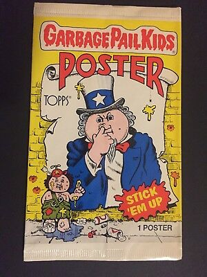 1986 Topps Garbage Pail Kids Poster. Unopened from Case. 12 X 17