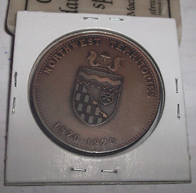 1970 NORTHWEST TERRITORIES LARGE BRONZE 36mm MEDAL