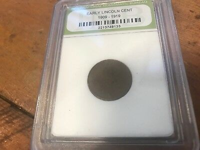 Abraham Lincoln One Cent Circulated  1c In Protective Sleeve 1909-1919 USA