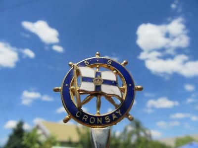 1951-1975 S.S. Oronsay Souvenir Ships Wheel Badge Orient Steam Navigation Compa