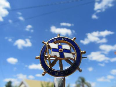 1951-1975 S.S. Ormonde Souvenir Ships Wheel Badge Orient Steam Navigation Compan