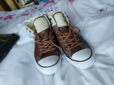 Converse All Star Leather Hi-Tops Mens UK Size 9