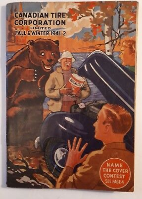"""Rare Wartime """"canadian Tire Corp. 1941 - 42 Fall And Winter"""" Catalogue - Defects"""