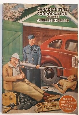 """Rare Canadian """"canadian Tire Corp. 1942 Spring And Summer"""" Catalogue - Nice"""
