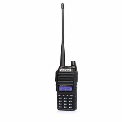 Baofeng Black UV-82 VHF/UHF Ham Walkie Talkie Two-way Radio UK Adapter