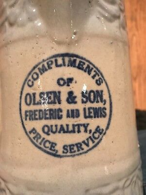 Red Wing Advertising Pitcher Olsen and Son Fredric Lewis 608