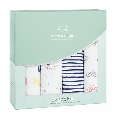 aden + anais Muslin Swaddle 4-Pack, Leader of the Pack