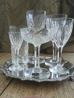 Saint Louis 72 pc Crystal Stemware with Original label  Perfect Wedding gift
