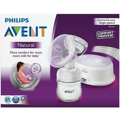 Brand New Philips Avent Natural Breast Pump Single Electric Scf332/01 Comfort