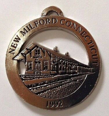 New Milford Railroad Station New Milford Historical Society Pewter Medallion