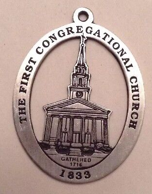 The First Congregational Church New Milford Historical Society Pewter Medallion