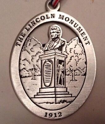 The Lincoln Monument New Milford Historical Society Pewter Medallion