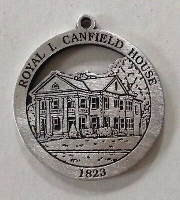 Royal I. Canfield House New Milford Historical Society Woodbury Pewter Medallion
