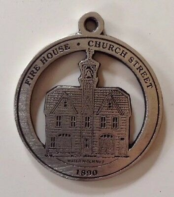 Fire House on Church Street New Milford Historical Society Pewter Medallion
