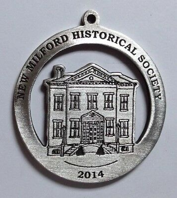 Roger Sherman Town Hall New Milford Historical Society Pewter Medallion