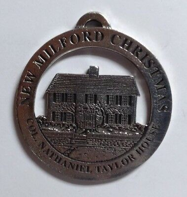 Col. Nathaniel Taylor House New Milford Historical Society Pewter Medallion