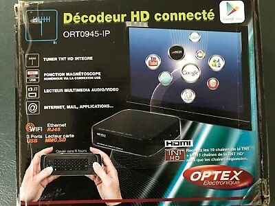 Décodeur TNT HD connecté Android Optex ORT0945-IP