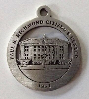 Paul Richmond Citizens' Center New Milford Historical Society Pewter Medallion