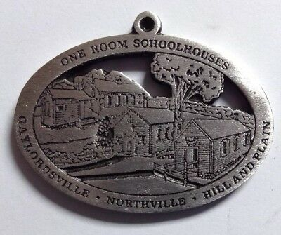 One Room Schoolhouses New Milford Historical Society Pewter Medallion