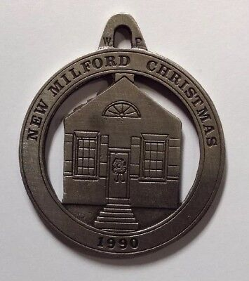 First Bank Building New Milford Historical Society Pewter Medallion