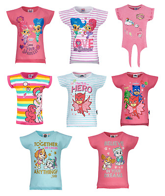 Girls Kids Official Various Character Short Sleeve T Tee Shirt Top 2 - 10 Years