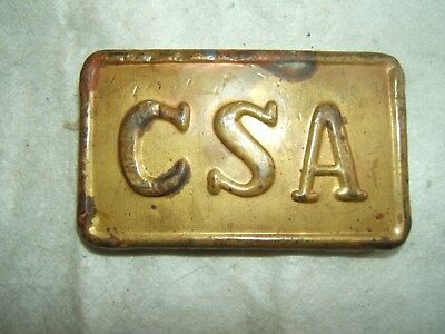 civil war csa confederate brass belt buckle 1800s 19th century antique vtg old