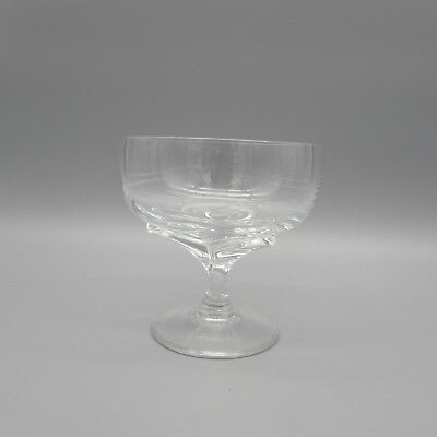 SET OF SIX - Rosenthal Crystal IRIS (Clear Stem) Saucer Champagnes